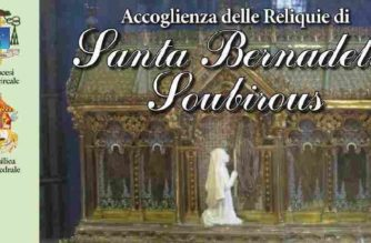 Le reliquie di Santa Bernadette e celebrazione di sua ecc.za Rev.ma Mons. Guglielmo Giombanco