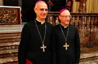 Gli auguri del Vescovo A.Raspanti al Vescovo G.Giombanco per il primo anniversario di ordinazione episcopale