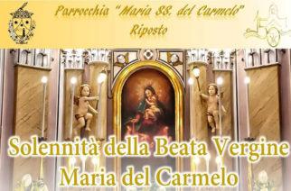 Il Cardinale F.Montenegro alla festa della B.V. Maria del Carmelo in Riposto