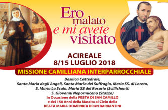 San Camillo de Lellis in Acireale – Presentazione programma della festa