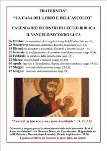 Vangelo Del Giorno Calendario Romano.Lectio Biblica Su Il Vangelo Secondo Luca Diocesi Di