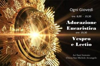 Adorazione Eucaristica e Lectio ad Aci Sant'Antonio
