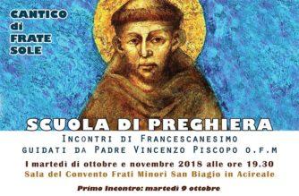 Scuola di Preghiera – Incontri di francescanesimo