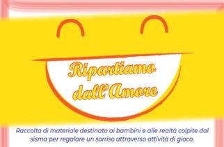 Emergenza Sisma_Raccolta di materiale di cartoleria per i bambini e supporto psicologico