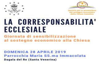 La Corresponsabilità Ecclesiale – Giornata di sensibilizzazione al sostegno economico della Chiesa Cattolica