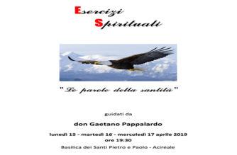 """Esercizi Spirituali: """"Le parole della Santità"""""""