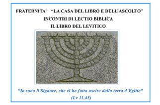 """Lectio Biblica su """"Il libro del Levitico"""""""