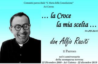 Don Alfio Raciti, Celebrazioni ed Eventi a 10 anni dalla morte