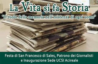 """""""La vita si fa storia"""" – Inaugurazione sede UCSI e Corso di formazione per giornalisti"""