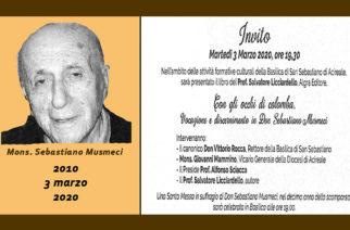 Presentazione del testo su don Sebastiano Musmeci, nel decennale della morte