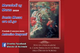 25 marzo, Consacrazione al Cuore Immacolato di Maria