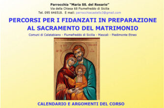 Fiumefreddo di Sicilia, Preparazione al Matrimonio