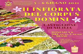 CASTIGLIONE DI SICILIA: INFIORATA DEL CORPUS DOMINI